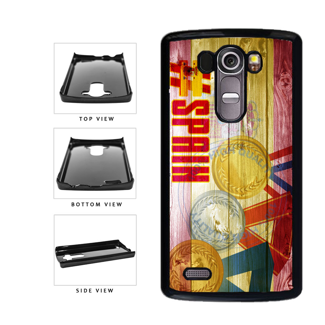 Sport Games Hashtag Team Spain #Spain Plastic Phone Case Back Cover For LG G4 H815 includes BleuReign(TM) Cloth and Warranty Label