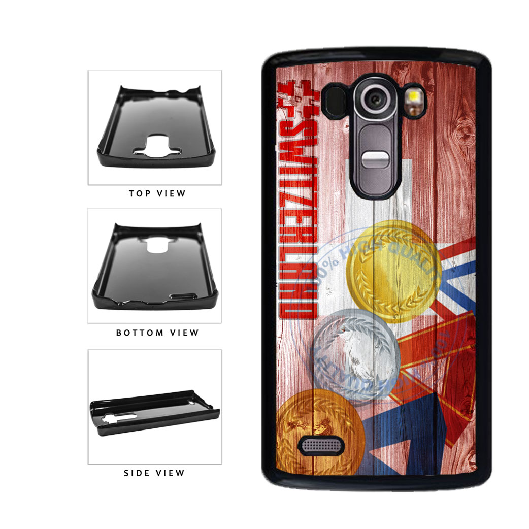 Sport Games Hashtag Team Switzerland #Switzerland Plastic Phone Case Back Cover For LG G4 H815 includes BleuReign(TM) Cloth and Warranty Label