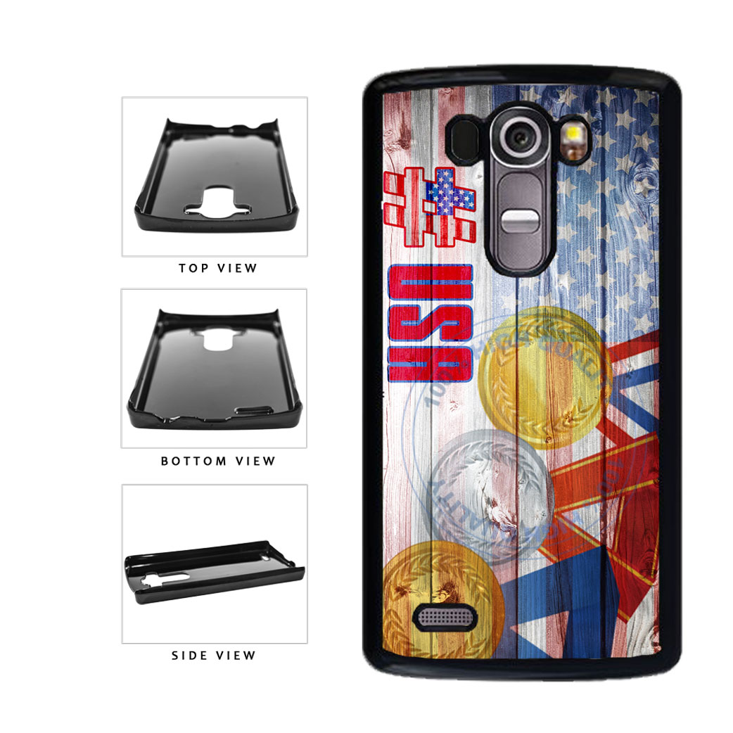 Sport Games Hashtag Team USA #USA Plastic Phone Case Back Cover For LG G4 H815 includes BleuReign(TM) Cloth and Warranty Label