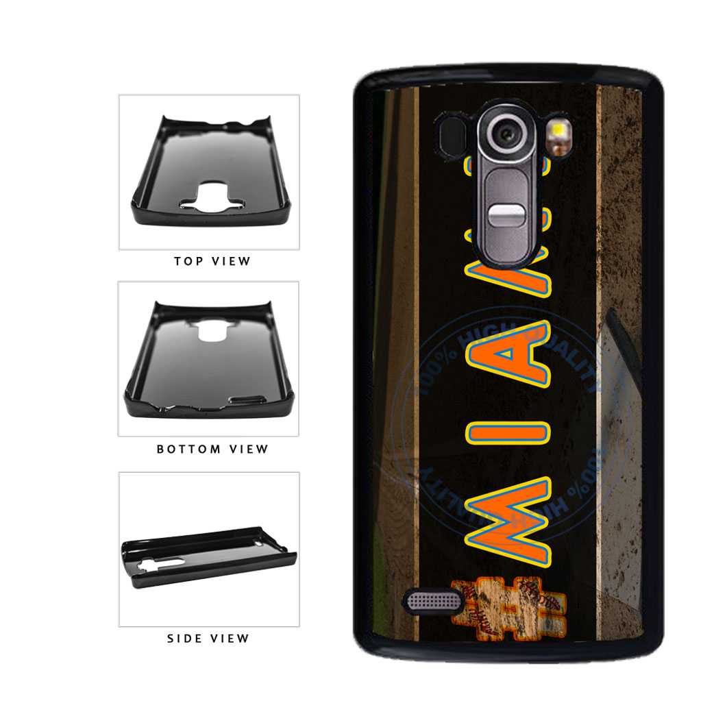 Hashtag Miami #Miami Baseball Team  Plastic Phone Case Back Cover For LG G4 H815 includes BleuReign(TM) Cloth and Warranty Label