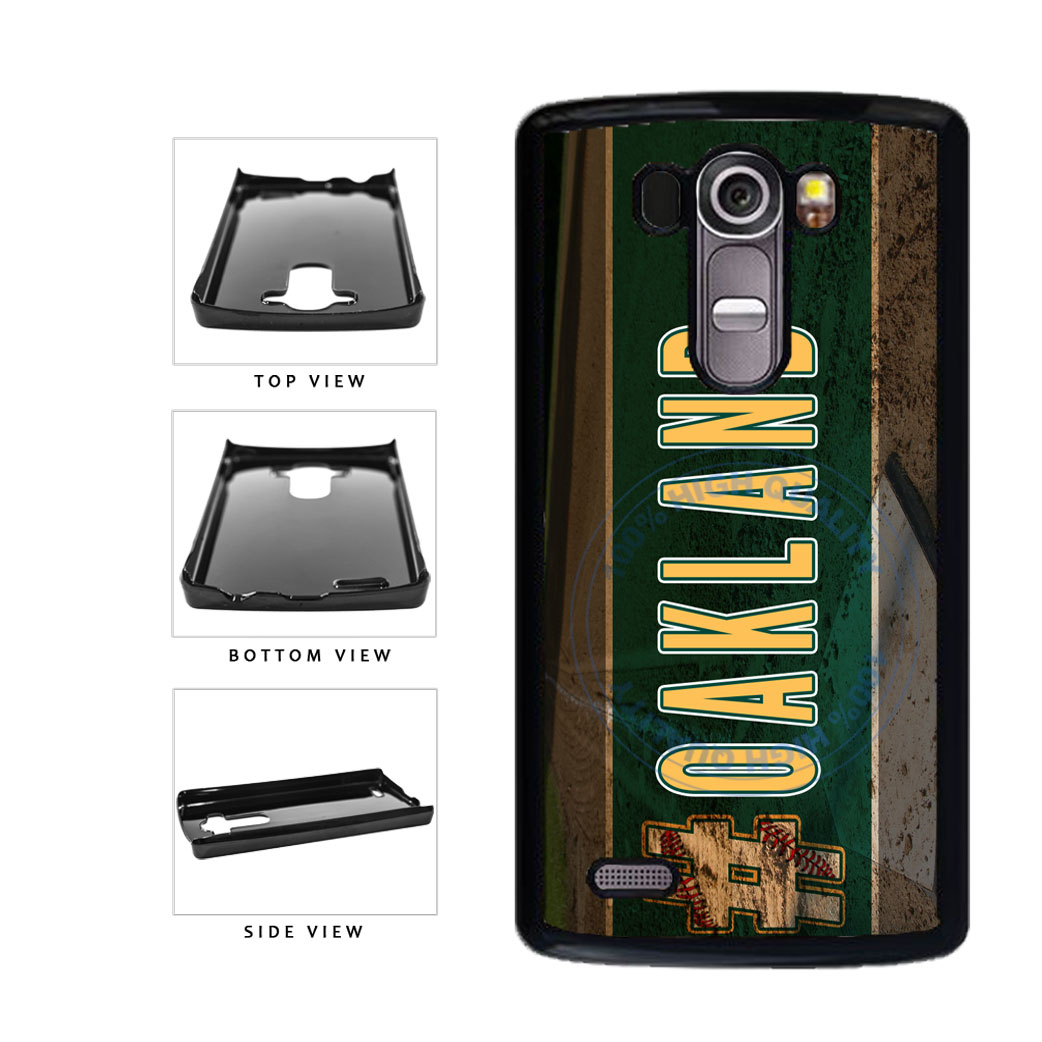 Hashtag Oakland #Oakland Baseball Team  Plastic Phone Case Back Cover For LG G4 H815 includes BleuReign(TM) Cloth and Warranty Label
