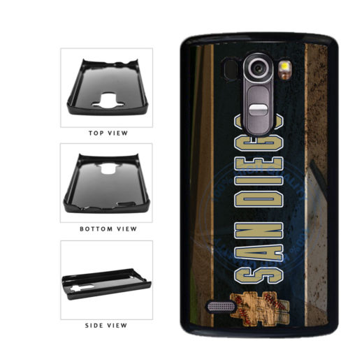 Hashtag San Diego #SanDiego Baseball Team  Plastic Phone Case Back Cover For LG G4 H815 includes BleuReign(TM) Cloth and Warranty Label
