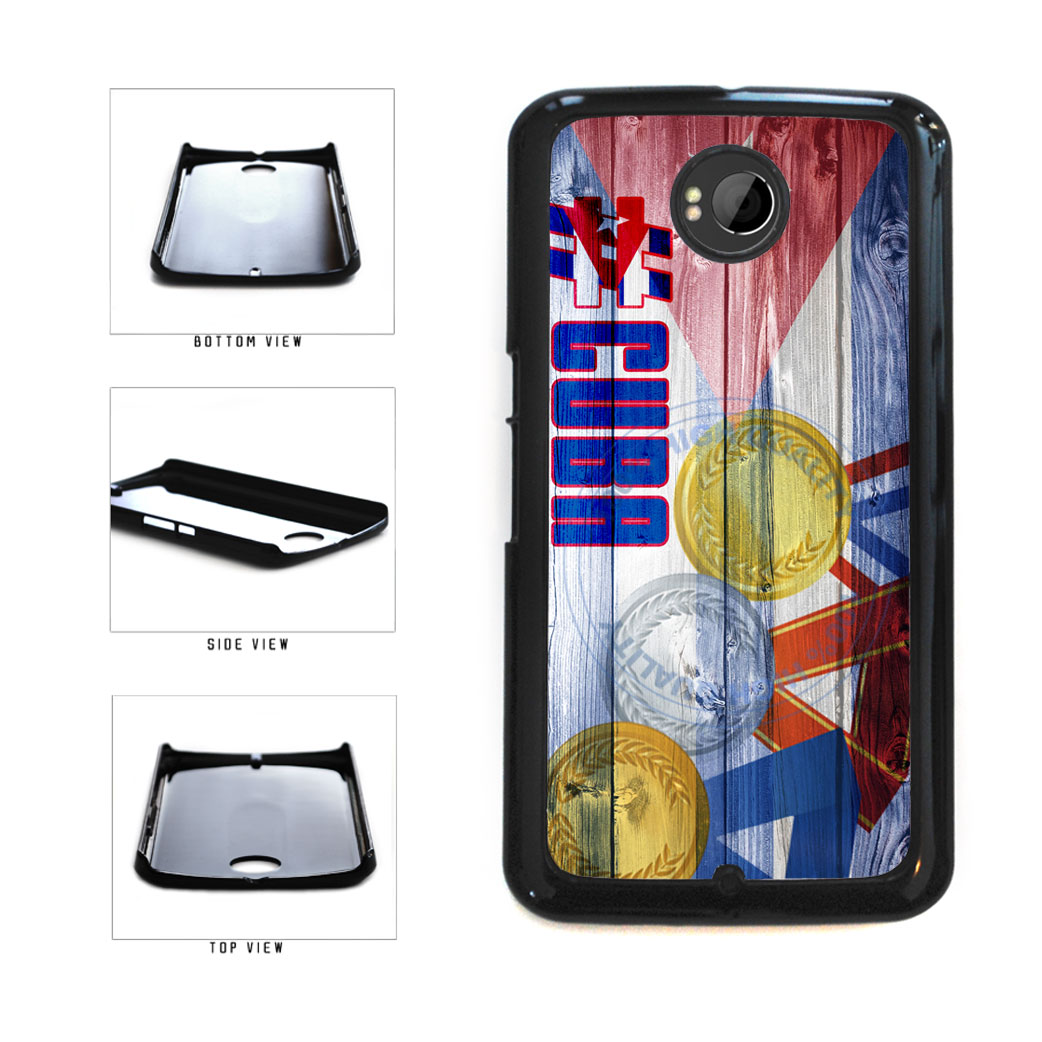 Sport Games Hashtag Team Cuba #Cuba Plastic Phone Case Back Cover For Google Nexus 6 includes BleuReign(TM) Cloth and Warranty Label