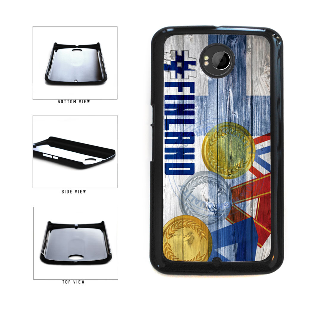 Sport Games Hashtag Team Finland #Finland Plastic Phone Case Back Cover For Google Nexus 6 includes BleuReign(TM) Cloth and Warranty Label