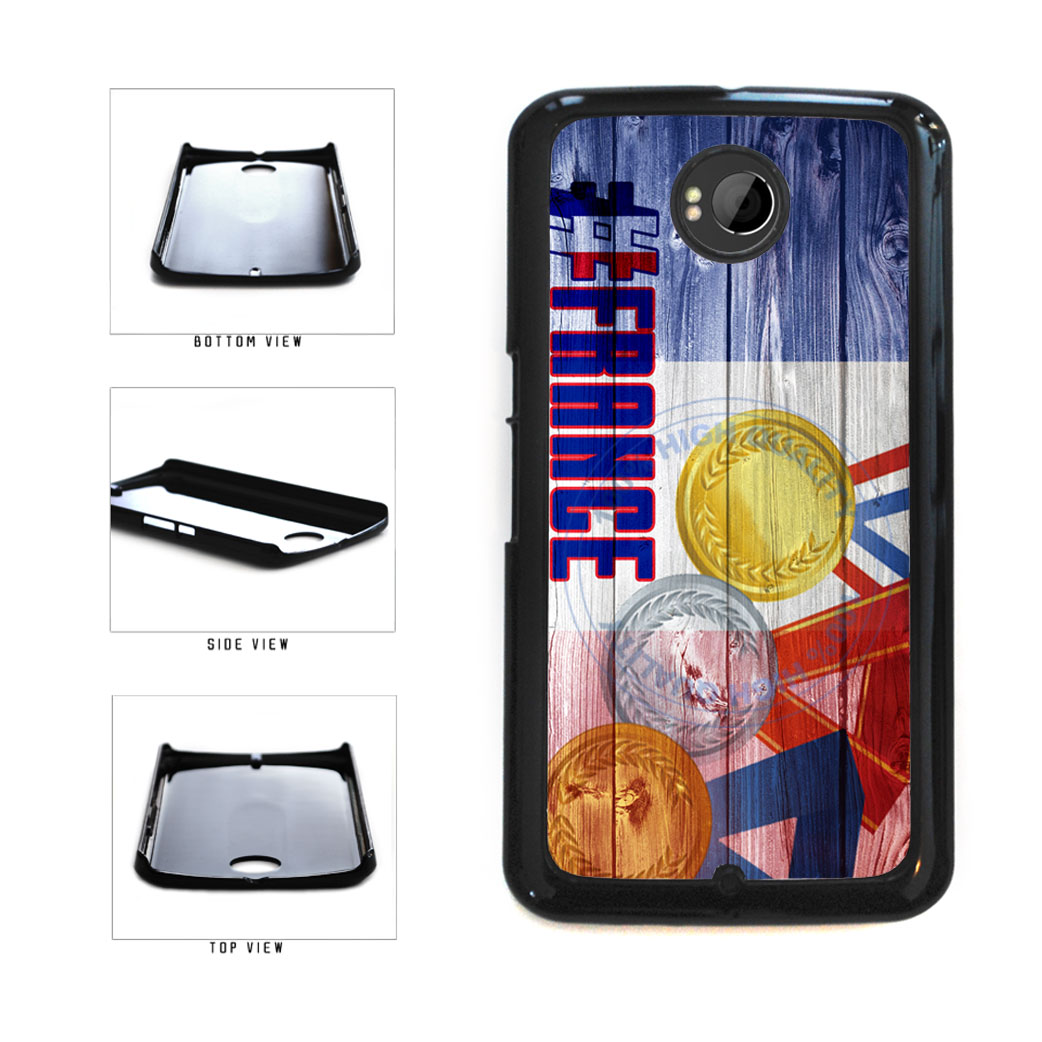 Sport Games Hashtag Team France #France Plastic Phone Case Back Cover For Google Nexus 6 includes BleuReign(TM) Cloth and Warranty Label