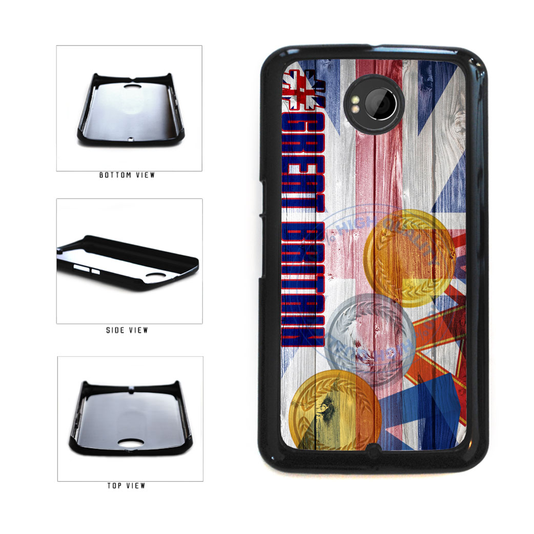 Sport Games Hashtag Team Great Britain #GreatBritain Plastic Phone Case Back Cover For Google Nexus 6 includes BleuReign(TM) Cloth and Warranty Label