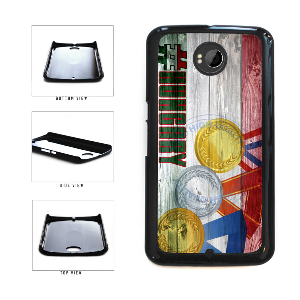 Sport Games Hashtag Team Hungary #Hungary Plastic Phone Case Back Cover For Google Nexus 6 includes BleuReign(TM) Cloth and Warranty Label
