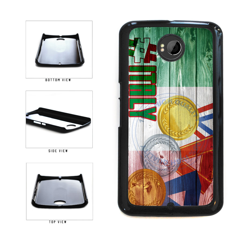Sport Games Hashtag Team Italy #Italy Plastic Phone Case Back Cover For Google Nexus 6 includes BleuReign(TM) Cloth and Warranty Label
