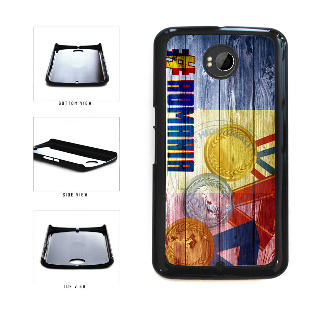 Sport Games Hashtag Team Romania #Romania Plastic Phone Case Back Cover For Google Nexus 6 includes BleuReign(TM) Cloth and Warranty Label