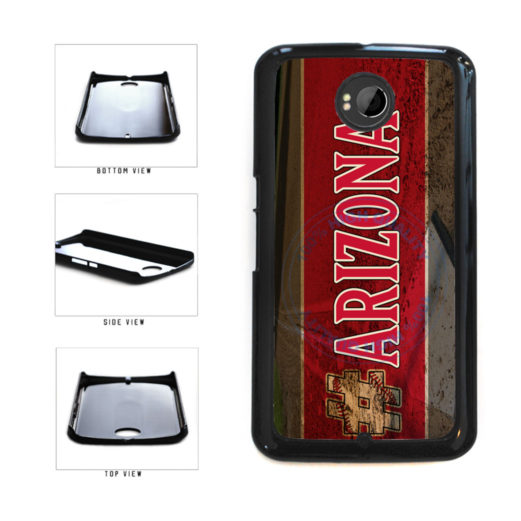 Hashtag Arizona #Arizona Baseball Team  Plastic Phone Case Back Cover For Google Nexus 6 includes BleuReign(TM) Cloth and Warranty Label
