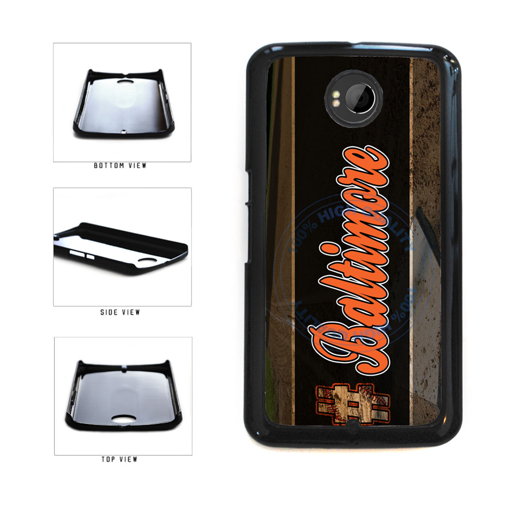 Hashtag Baltimore #Baltimore Baseball Team  Plastic Phone Case Back Cover For Google Nexus 6 includes BleuReign(TM) Cloth and Warranty Label