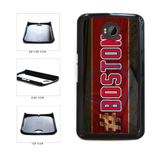 Hashtag Boston #Boston Baseball Team  Plastic Phone Case Back Cover For Google Nexus 6 includes BleuReign(TM) Cloth and Warranty Label