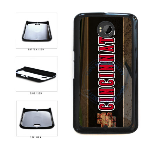 Hashtag Cincinnati #Cincinnati Baseball Team  Plastic Phone Case Back Cover For Google Nexus 6 includes BleuReign(TM) Cloth and Warranty Label
