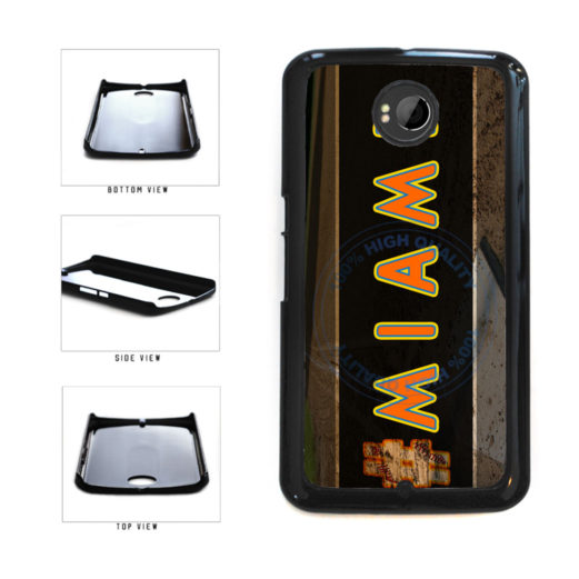 Hashtag Miami #Miami Baseball Team  Plastic Phone Case Back Cover For Google Nexus 6 includes BleuReign(TM) Cloth and Warranty Label