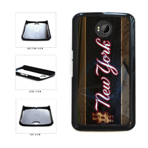 Hashtag New York #NewYork Blue Baseball Team  Plastic Phone Case Back Cover For Google Nexus 6 includes BleuReign(TM) Cloth and Warranty Label
