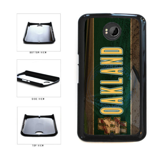 Hashtag Oakland #Oakland Baseball Team  Plastic Phone Case Back Cover For Google Nexus 6 includes BleuReign(TM) Cloth and Warranty Label