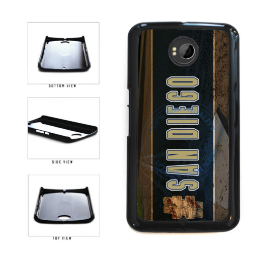 Hashtag San Diego #SanDiego Baseball Team  Plastic Phone Case Back Cover For Google Nexus 6 includes BleuReign(TM) Cloth and Warranty Label