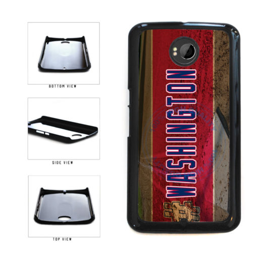 Hashtag Washington #Washington Baseball Team  Plastic Phone Case Back Cover For Google Nexus 6 includes BleuReign(TM) Cloth and Warranty Label