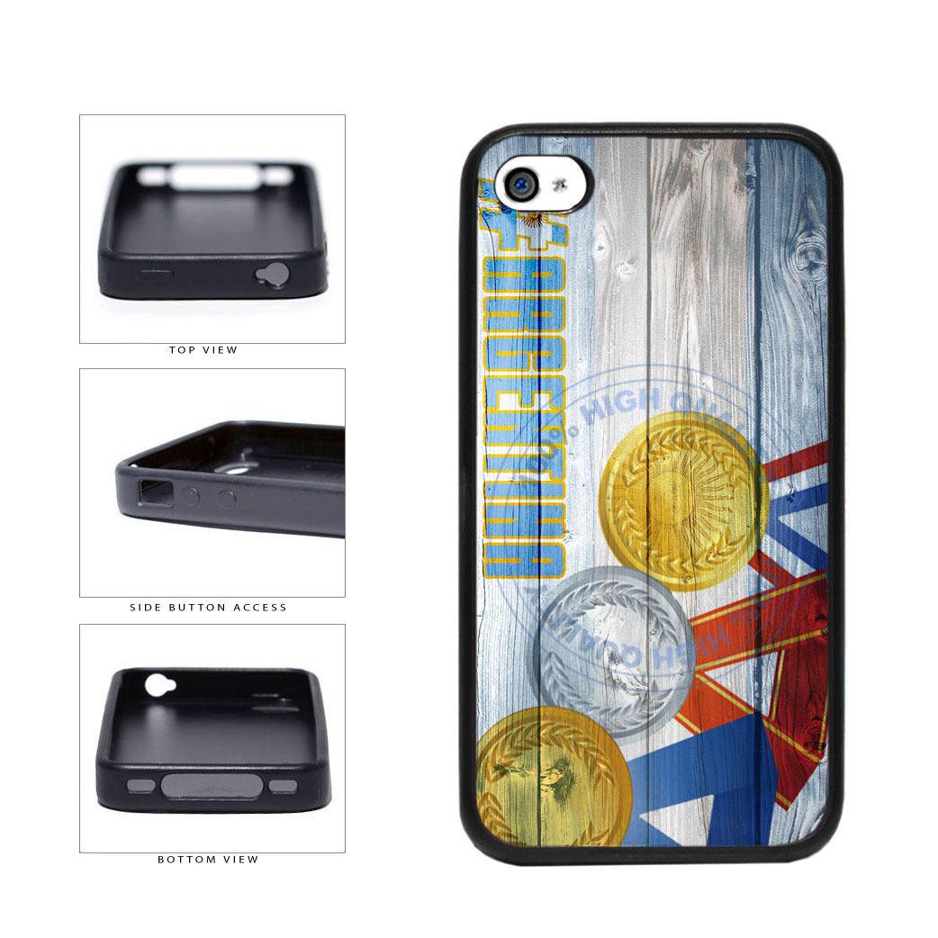 Sport Games Hashtag Team Argentina #Argentina TPU Rubber SILICONE Phone Case Back Cover For Apple iPhone 4 4S includes BleuReign(TM) Cloth and Warranty Label