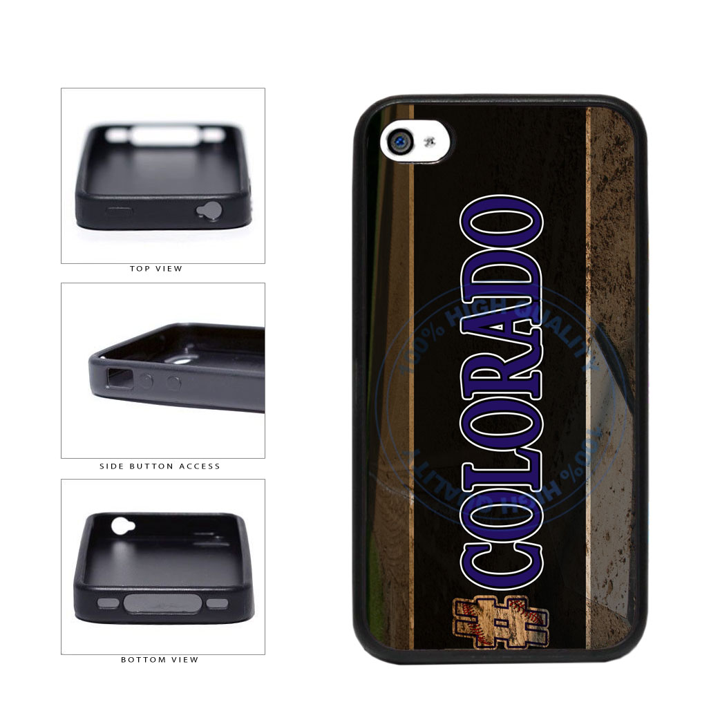 Hashtag Colorado #Colorado Baseball Team  TPU Rubber SILICONE Phone Case Back Cover For Apple iPhone 4 4S includes BleuReign(TM) Cloth and Warranty Label