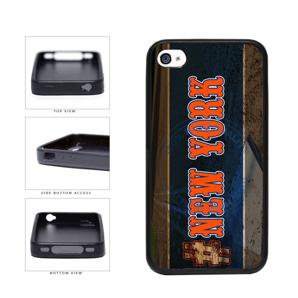 Hashtag New York #NewYork Orange Baseball Team  TPU Rubber SILICONE Phone Case Back Cover For Apple iPhone 4 4S includes BleuReign(TM) Cloth and Warranty Label
