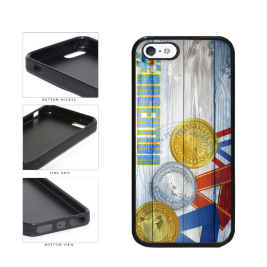 Sport Games Hashtag Team Argentina #Argentina TPU Rubber SILICONE Phone Case Back Cover For Apple iPhone 5 5S includes BleuReign(TM) Cloth and Warranty Label