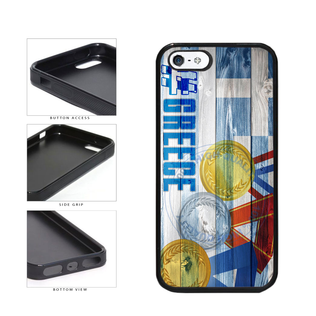 Sport Games Hashtag Team Greece #Greece TPU Rubber SILICONE Phone Case Back Cover For Apple iPhone 5 5S includes BleuReign(TM) Cloth and Warranty Label