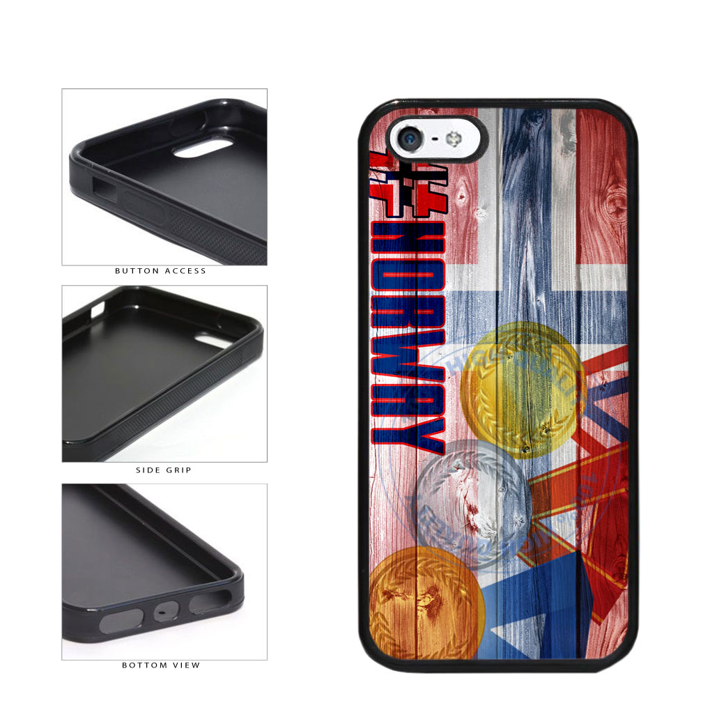 Sport Games Hashtag Team Norway #Norway TPU Rubber SILICONE Phone Case Back Cover For Apple iPhone 5 5S includes BleuReign(TM) Cloth and Warranty Label