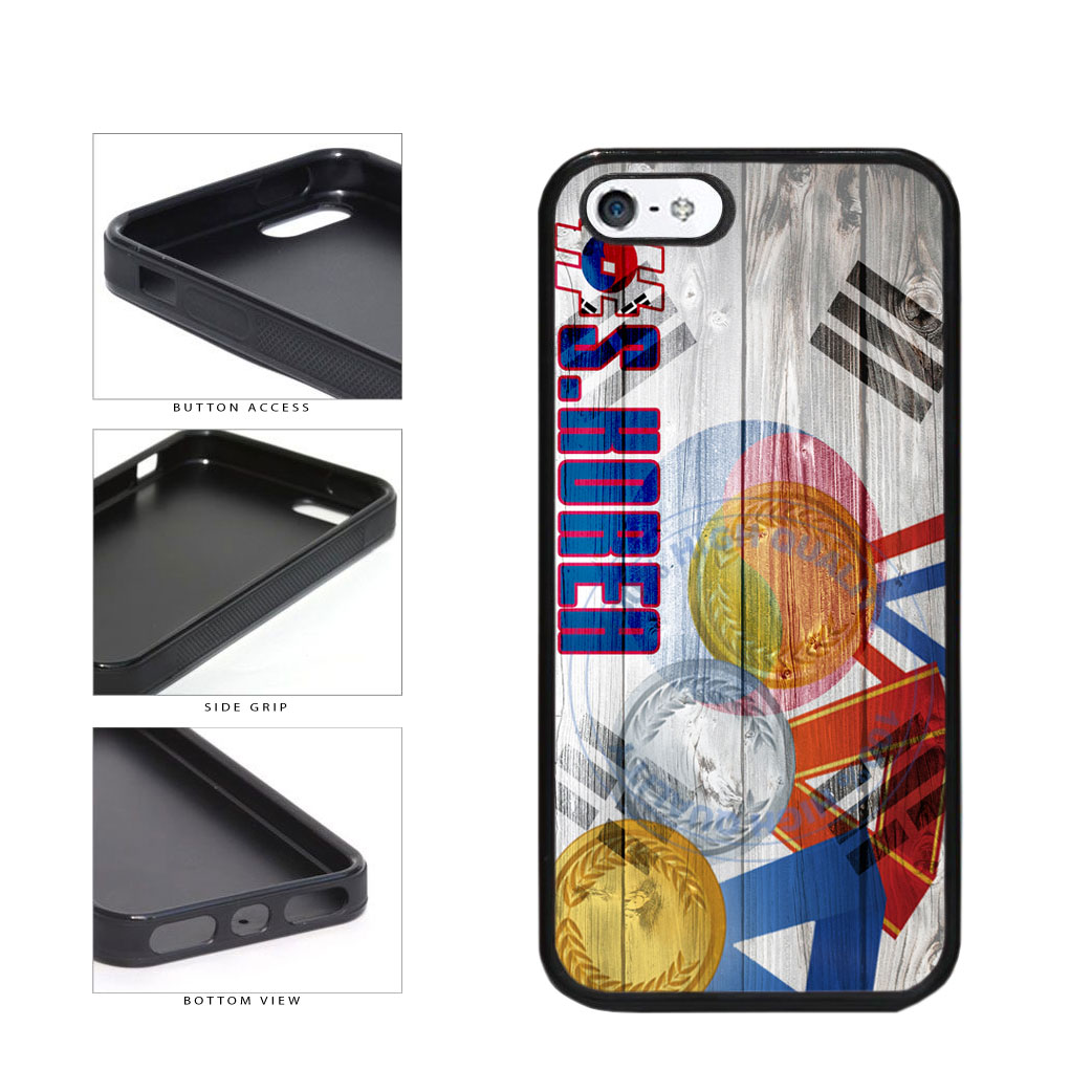 Sport Games Hashtag Team South Korea #SouthKorea TPU Rubber SILICONE Phone Case Back Cover For Apple iPhone 5 5S includes BleuReign(TM) Cloth and Warranty Label