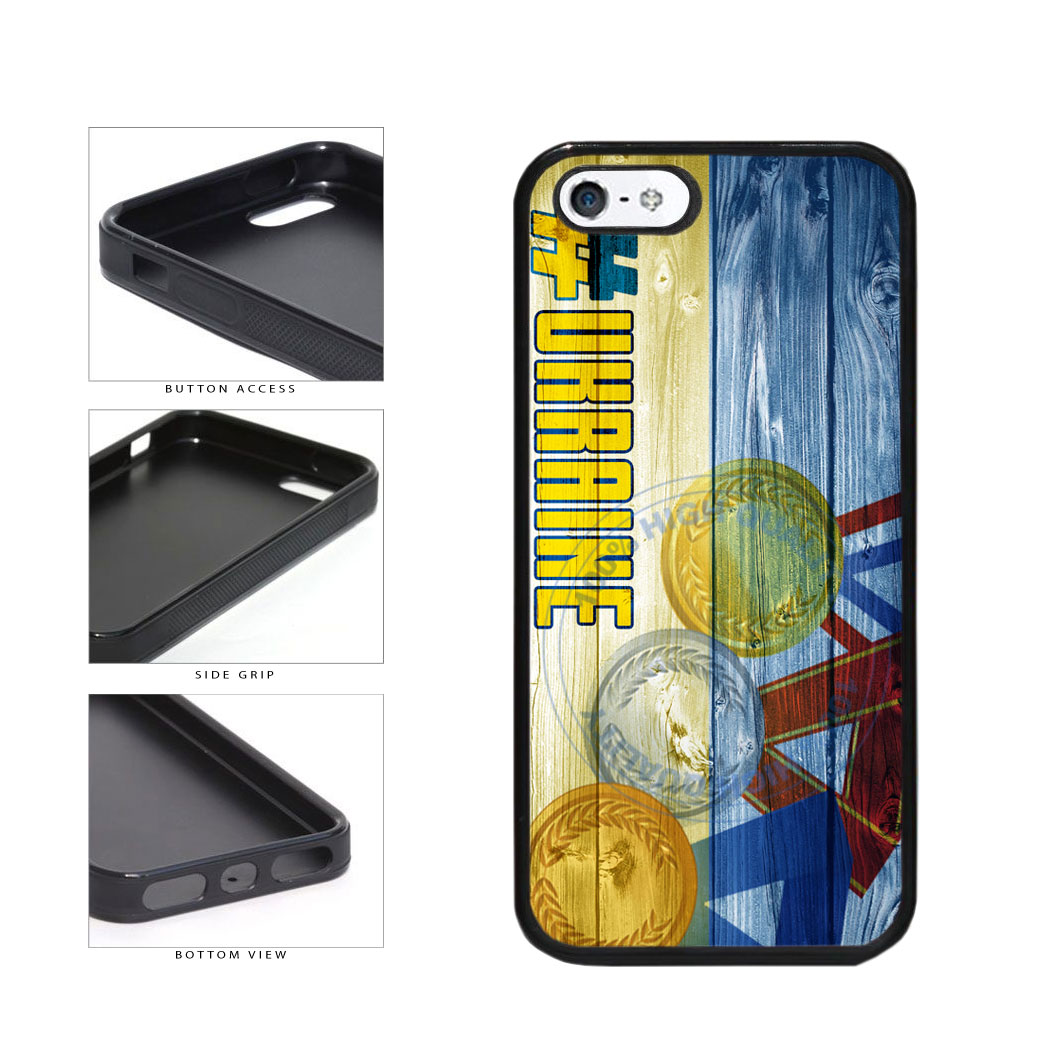 Sport Games Hashtag Team Ukraine #Ukraine TPU Rubber SILICONE Phone Case Back Cover For Apple iPhone 5 5S includes BleuReign(TM) Cloth and Warranty Label
