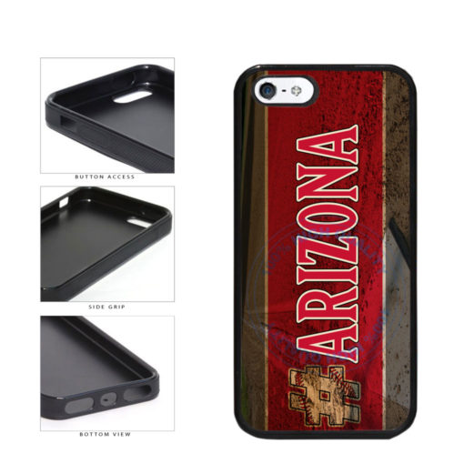 Hashtag Arizona #Arizona Baseball Team  TPU Rubber SILICONE Phone Case Back Cover For Apple iPhone 5 5S includes BleuReign(TM) Cloth and Warranty Label
