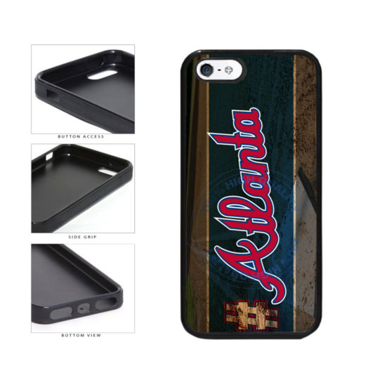 Hashtag Atlanta #Atlanta Baseball Team  TPU Rubber SILICONE Phone Case Back Cover For Apple iPhone 5 5S includes BleuReign(TM) Cloth and Warranty Label