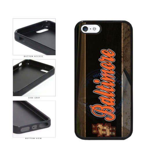 Hashtag Baltimore #Baltimore Baseball Team  TPU Rubber SILICONE Phone Case Back Cover For Apple iPhone 5 5S includes BleuReign(TM) Cloth and Warranty Label