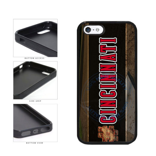 Hashtag Cincinnati #Cincinnati Baseball Team  TPU Rubber SILICONE Phone Case Back Cover For Apple iPhone 5 5S includes BleuReign(TM) Cloth and Warranty Label