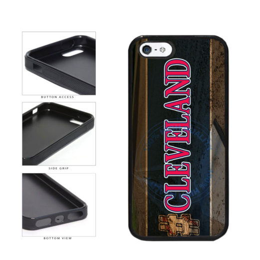 Hashtag Cleveland #Cleveland Baseball Team  TPU Rubber SILICONE Phone Case Back Cover For Apple iPhone 5 5S includes BleuReign(TM) Cloth and Warranty Label