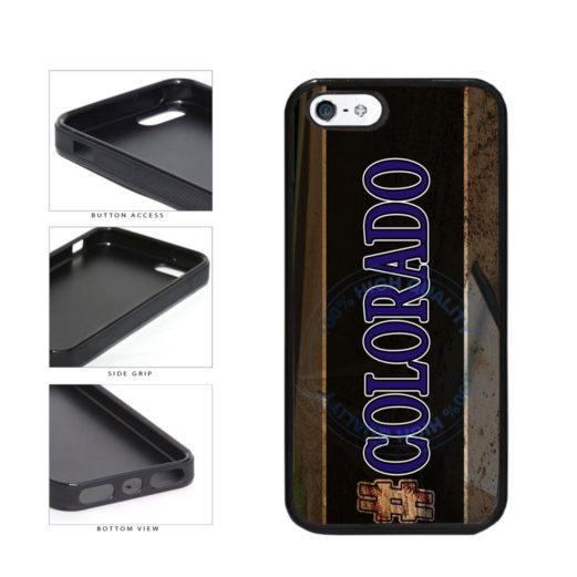 Hashtag Colorado #Colorado Baseball Team  TPU Rubber SILICONE Phone Case Back Cover For Apple iPhone 5 5S includes BleuReign(TM) Cloth and Warranty Label
