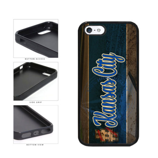 Hashtag Kansas City #KansasCity Baseball Team  TPU Rubber SILICONE Phone Case Back Cover For Apple iPhone 5 5S includes BleuReign(TM) Cloth and Warranty Label