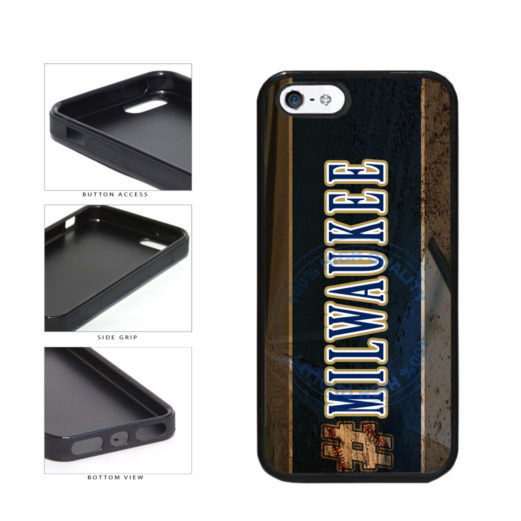 Hashtag Milwaukee #Milwaukee Baseball Team  TPU Rubber SILICONE Phone Case Back Cover For Apple iPhone 5 5S includes BleuReign(TM) Cloth and Warranty Label