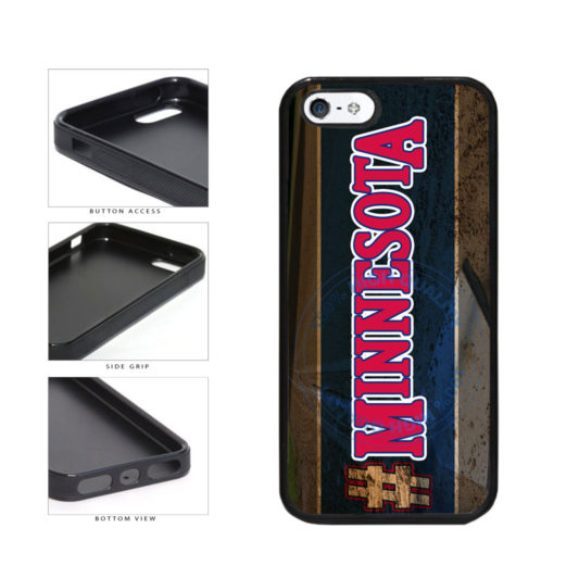 Hashtag Minnesota #Minnesota Baseball Team  TPU Rubber SILICONE Phone Case Back Cover For Apple iPhone 5 5S includes BleuReign(TM) Cloth and Warranty Label