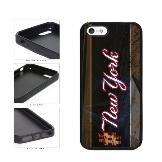 Hashtag New York #NewYork Blue Baseball Team  TPU Rubber SILICONE Phone Case Back Cover For Apple iPhone 5 5S includes BleuReign(TM) Cloth and Warranty Label
