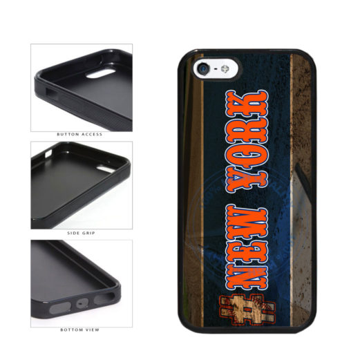 Hashtag New York #NewYork Orange Baseball Team  TPU Rubber SILICONE Phone Case Back Cover For Apple iPhone 5 5S includes BleuReign(TM) Cloth and Warranty Label