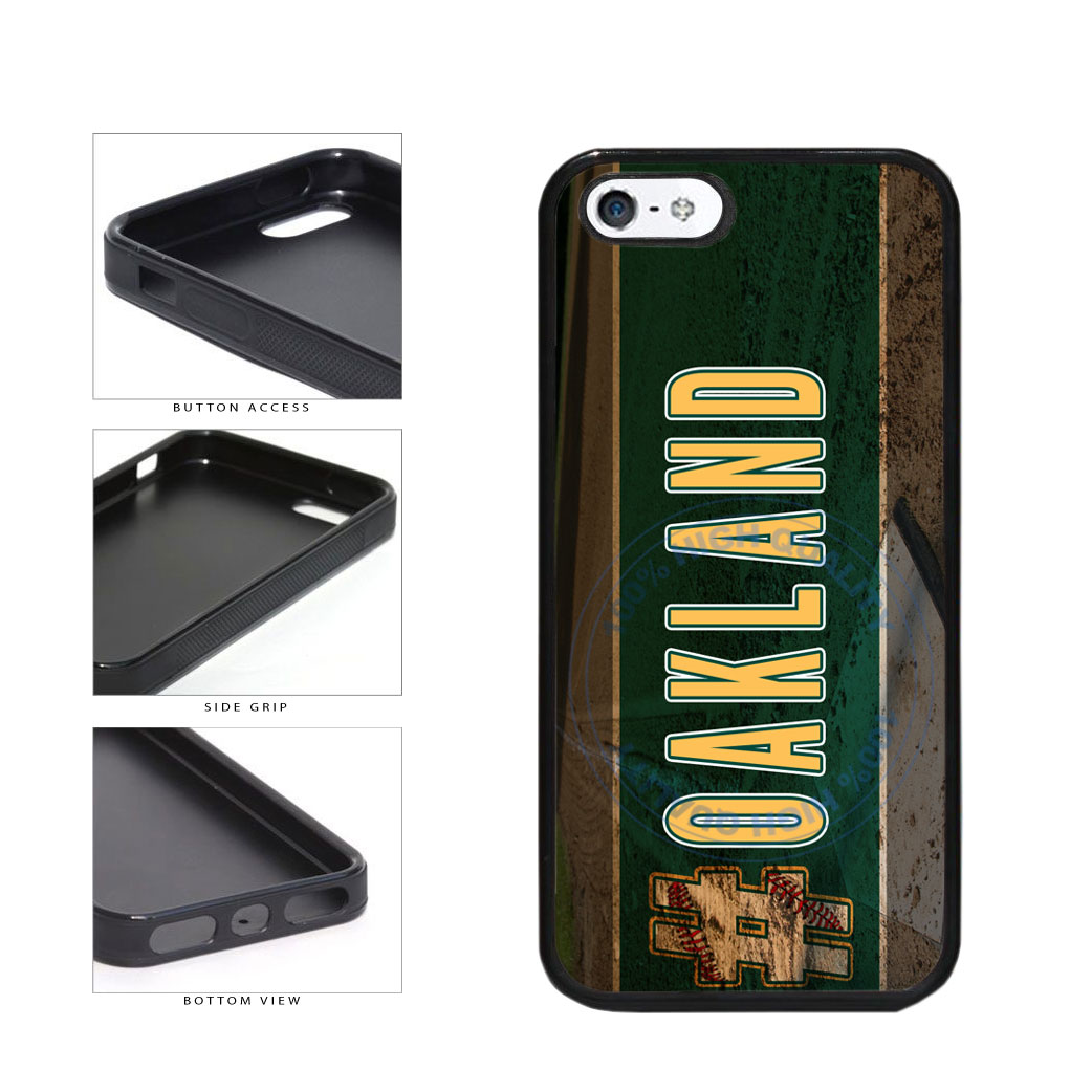 Hashtag Oakland #Oakland Baseball Team  TPU Rubber SILICONE Phone Case Back Cover For Apple iPhone 5 5S includes BleuReign(TM) Cloth and Warranty Label
