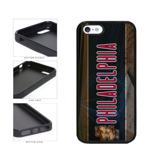 Hashtag Philadelphia #Philadelphia Baseball Team  TPU Rubber SILICONE Phone Case Back Cover For Apple iPhone 5 5S includes BleuReign(TM) Cloth and Warranty Label