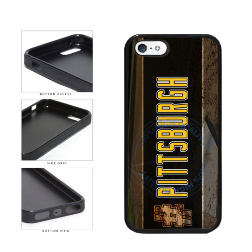Hashtag Pittsburgh #Pittsburgh Baseball Team  TPU Rubber SILICONE Phone Case Back Cover For Apple iPhone 5 5S includes BleuReign(TM) Cloth and Warranty Label