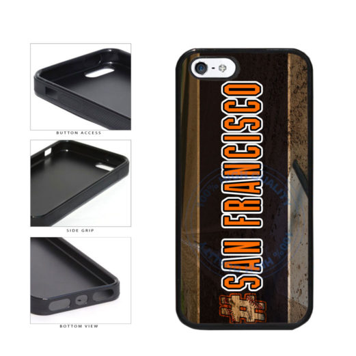 Hashtag San Francisco #SanFrancisco Baseball Team  TPU Rubber SILICONE Phone Case Back Cover For Apple iPhone 5 5S includes BleuReign(TM) Cloth and Warranty Label