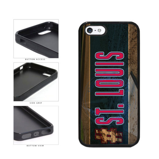 Hashtag St Louis #StLouis Baseball Team TPU Rubber SILICONE Phone Case Back Cover For Apple iPhone 5 5S includes BleuReign(TM) Cloth and Warranty Label