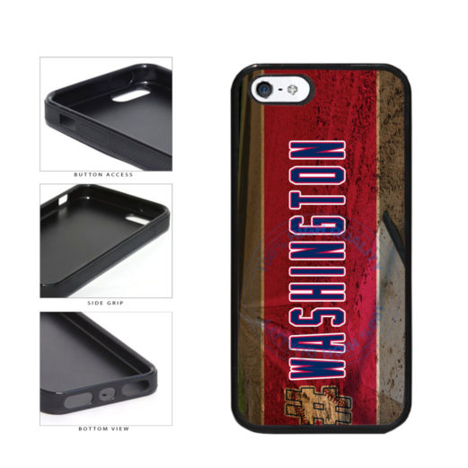 Hashtag Washington #Washington Baseball Team  TPU Rubber SILICONE Phone Case Back Cover For Apple iPhone 5 5S includes BleuReign(TM) Cloth and Warranty Label