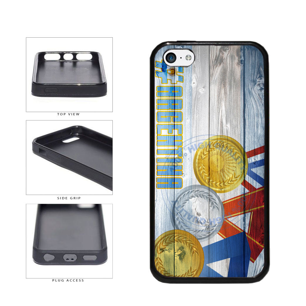 Sport Games Hashtag Team Argentina #Argentina TPU Rubber SILICONE Phone Case Back Cover For Apple iPhone 5c includes BleuReign(TM) Cloth and Warranty Label
