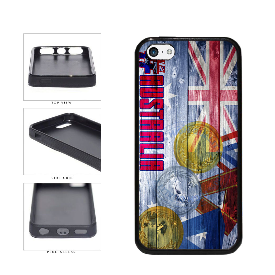Sport Games Hashtag Team Australia #Australia TPU Rubber SILICONE Phone Case Back Cover For Apple iPhone 5c includes BleuReign(TM) Cloth and Warranty Label