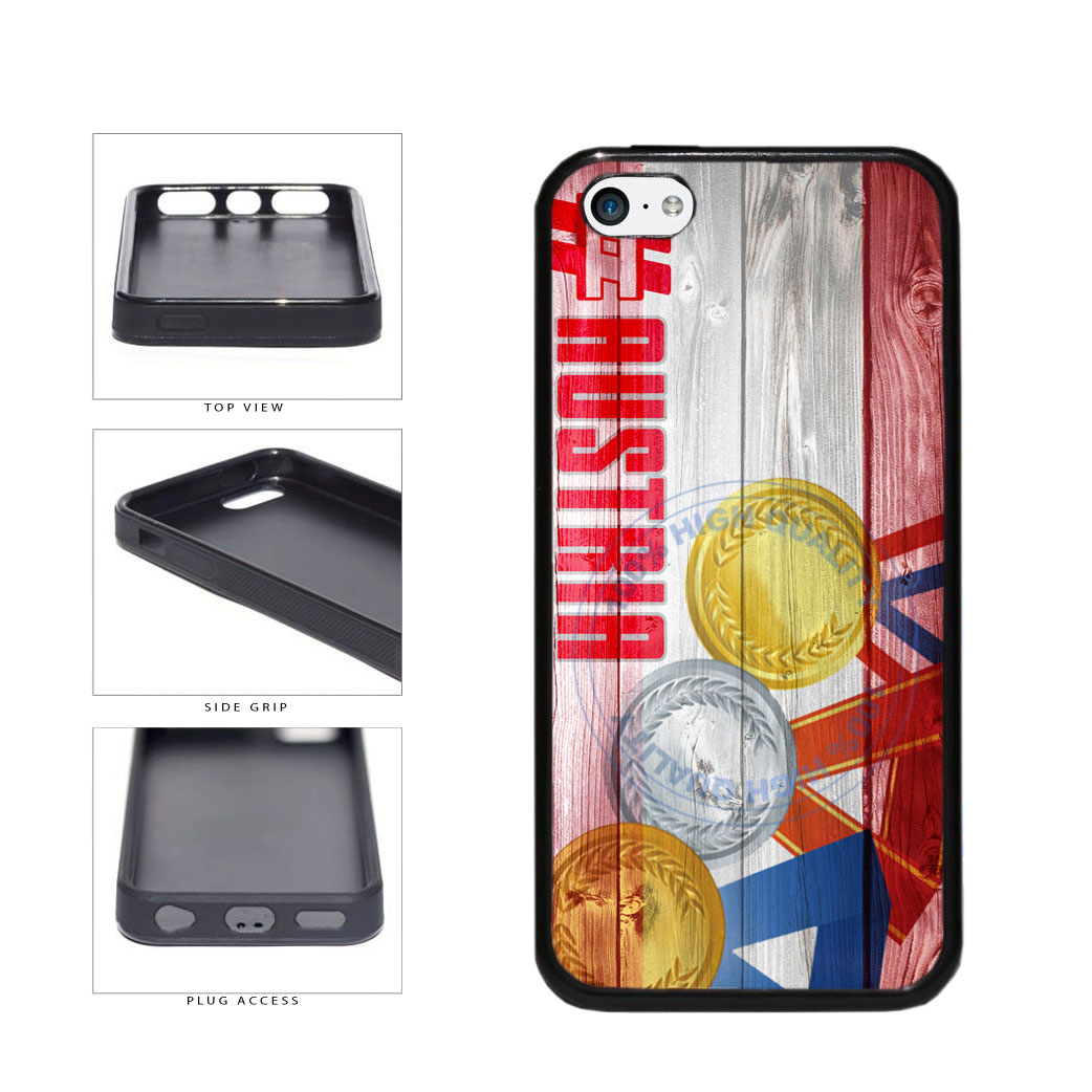 Sport Games Hashtag Team Austria #Austria TPU Rubber SILICONE Phone Case Back Cover For Apple iPhone 5c includes BleuReign(TM) Cloth and Warranty Label